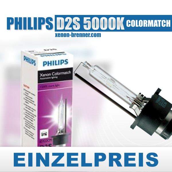 1x philips d2s 85122cm colormatch 5000kelvin for Lampen 5000 kelvin